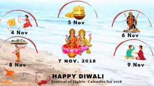 Diwali Calendar 2018 Image